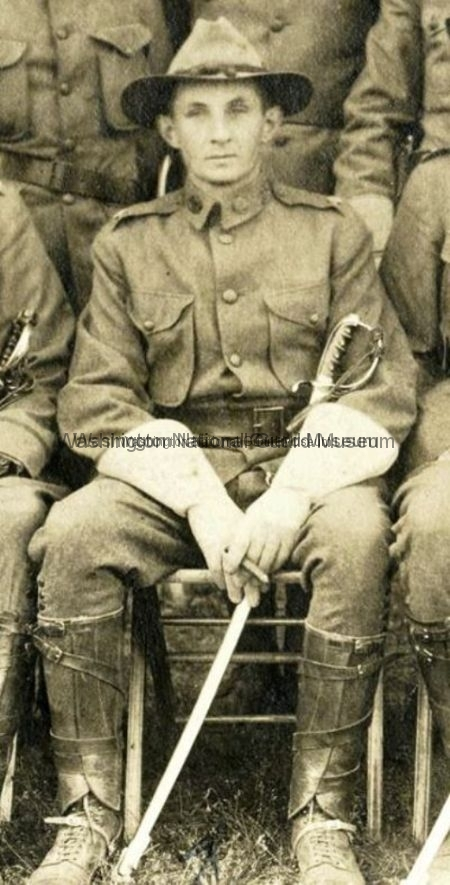 MAJ Maurice Thompson with saber 1900s