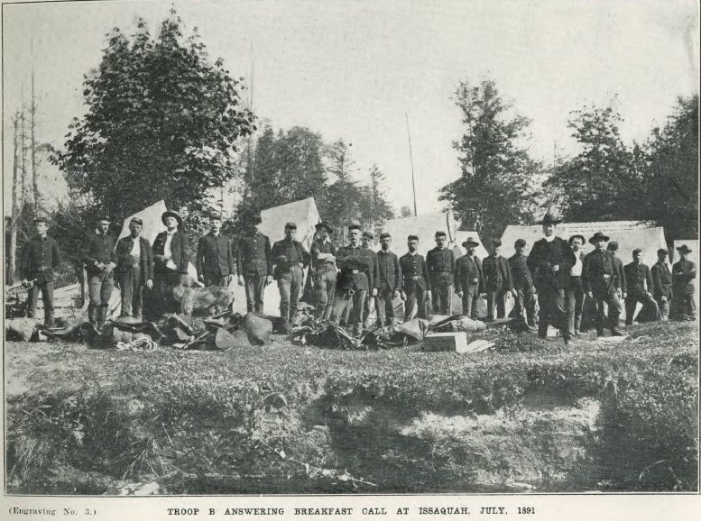 Troop B at Issaquah July 1891
