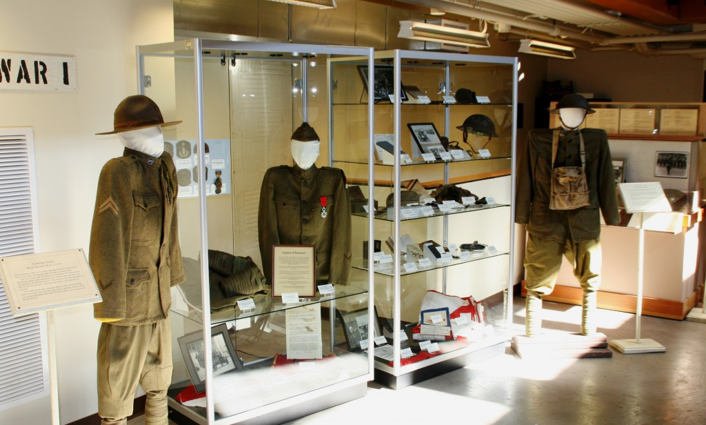 WWI display in the Museum's main gallery